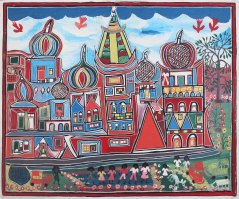"Allan ""Zion"" Johnson - Untitled (Russian Buildings) (1985),Annabella and Peter Proudlock Collection"