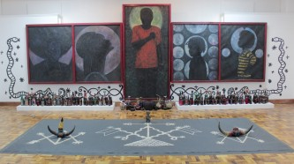 Xavier Haugton- The Philovisulization of Dsmalla Hweolo - Giving Rise to the Afrikan Vanguards (2017, installation view)