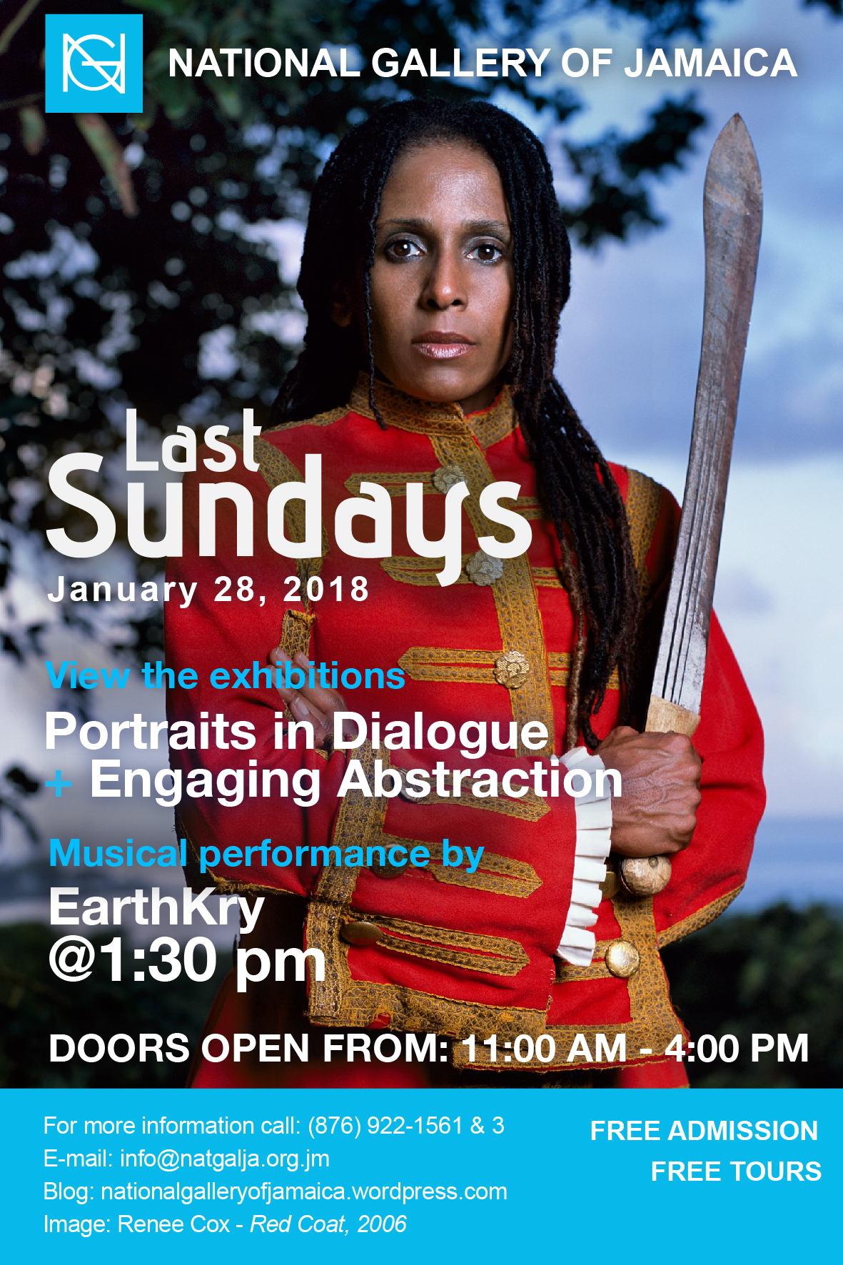 Last sundays national gallery of jamaica blog the national gallery of jamaicas last sundays programme for the month of january will feature a special musical performance by the earthkry band malvernweather Images