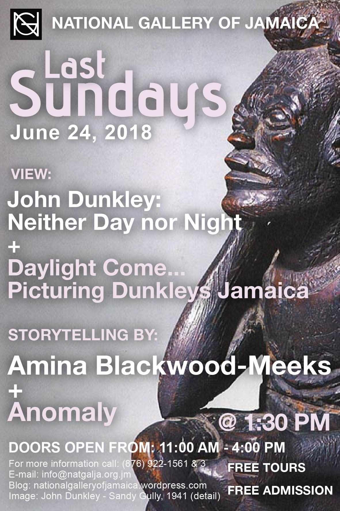 Last sundays national gallery of jamaica blog the national gallery of jamaicas last sundays programming for june 24th will feature storytelling by amina blackwood meeks and the visual and performing malvernweather Images